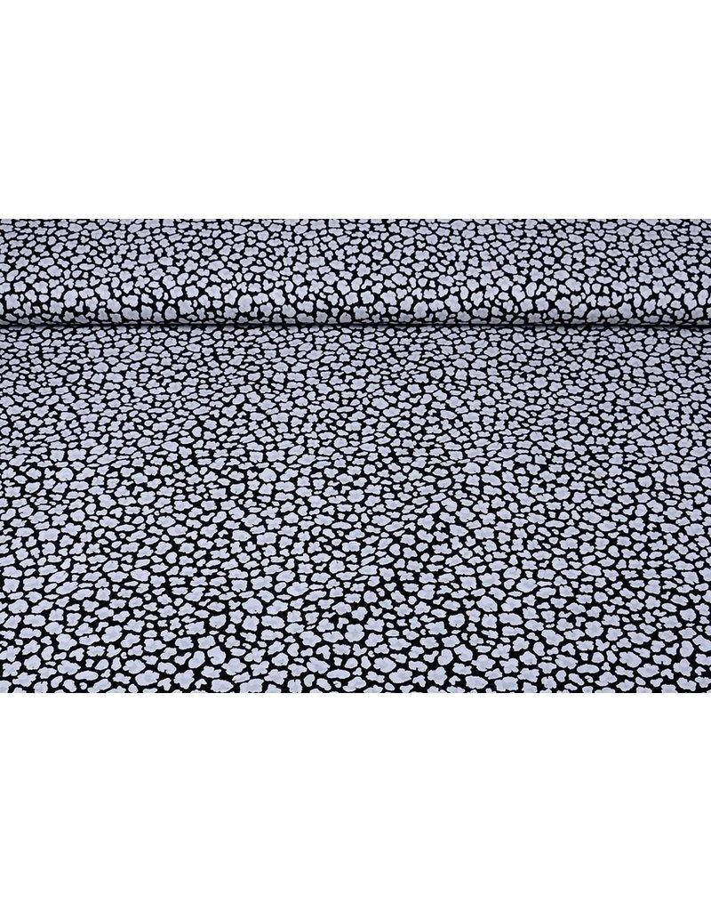 Stenzo 100% Katoen Bedrukt Zwart Wit Grijs
