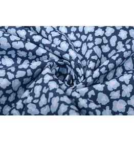 100% Cotton Printed Blue White