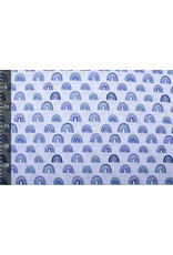 Stenzo 100% Katoen Regenboog Blauw