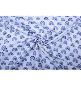 100% Baumwolle Regenbogen Blau