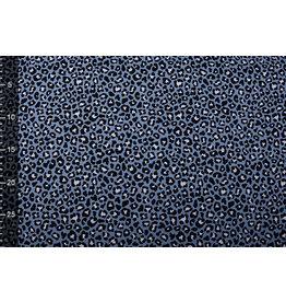 100% Katoen Panterprint Jeans Blauw
