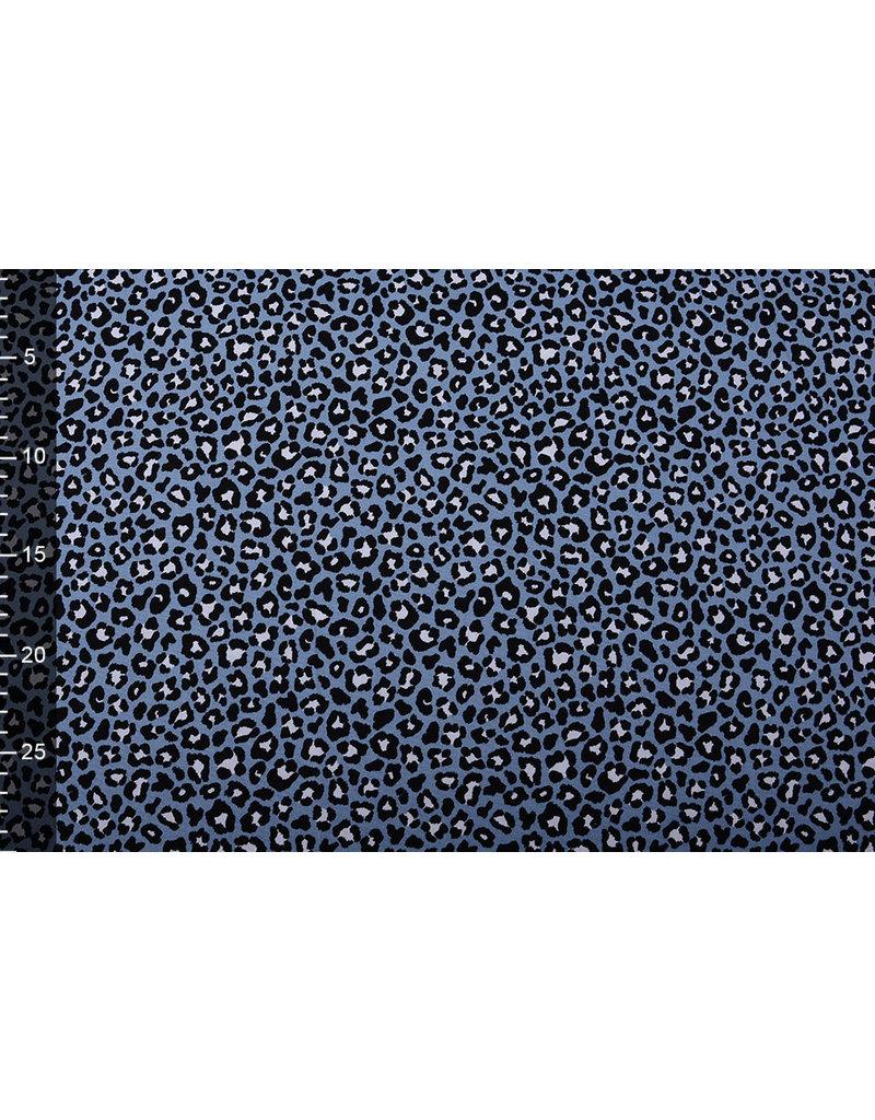 Stenzo 100% Katoen Panterprint Jeans Blauw