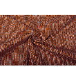 100% Cotton Triangle Rust Brique
