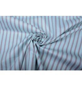 100% Baumwolle Gestreiftes Blau Grau