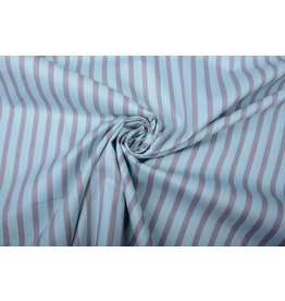 100% Cotton Striped Blue Grey