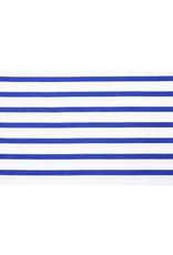 French Terry Gestreiftes Weißblau