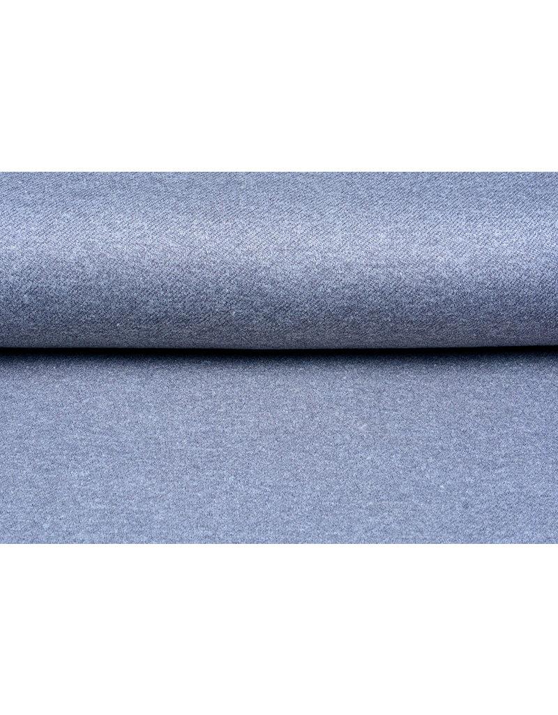 French Terry Sweatshirt Stof Jeans Melange