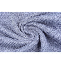 French Terry Sweatshirtstoff Jeans Melange