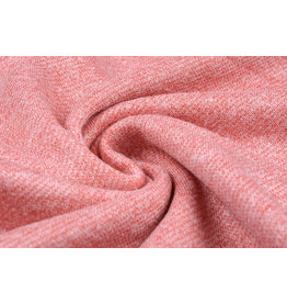 French Terry Sweatshirt Fabric Coral Melange