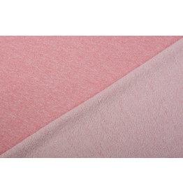 French Terry Sweatshirt Fabric Coral Melange