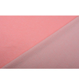French Terry Sweatshirt Fabric  Fluor Pink Melange