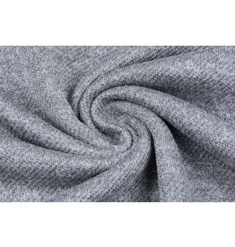 French Terry Sweatshirt Fabric Grey Melange