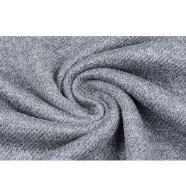 French Terry Sweatshirtstoff Grau Melange