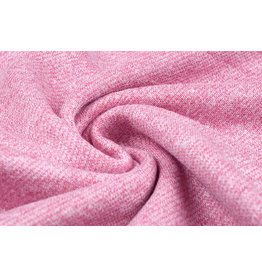 French Terry Sweatshirt Fabric Pink Melange