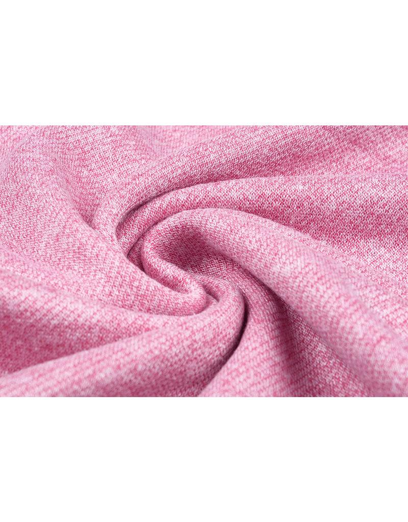 French Terry Sweatshirt Stof Roze Melange