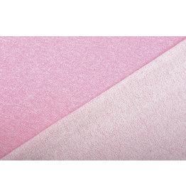 French Terry Sweatshirt Fabric Pink Melange