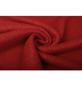 Knitted Woolen Fabric Lana Red