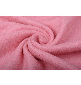 Knitted Woolen Fabric Lana Pinky