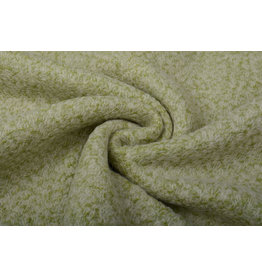 Knitted Woolen Fabric Lanoso Mossgreen