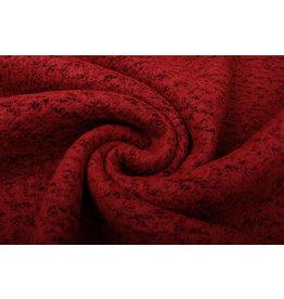 Knitted Woolen Fabric Lanoso Red Black