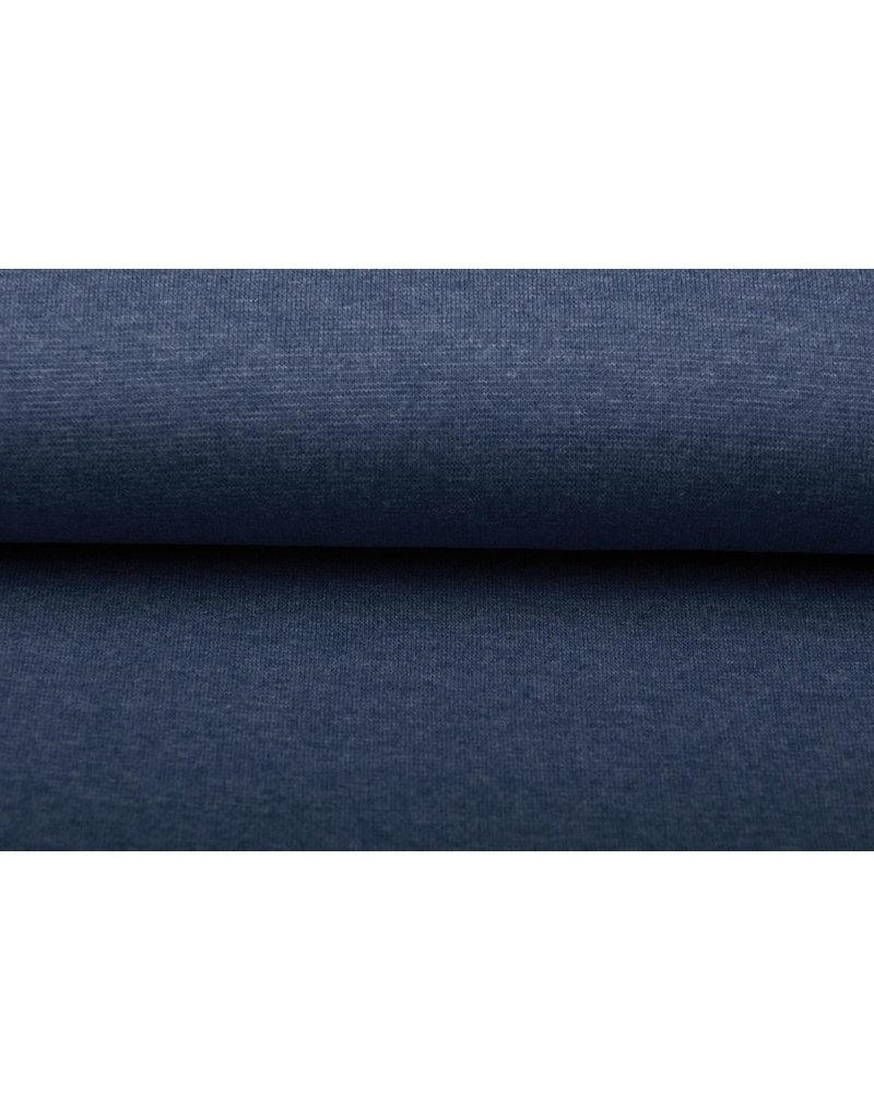 Bündchenstoff Jeans Melange