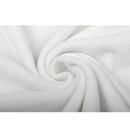 Stretch-Frottee Weiß