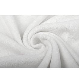 Stretch Terry Cloth White