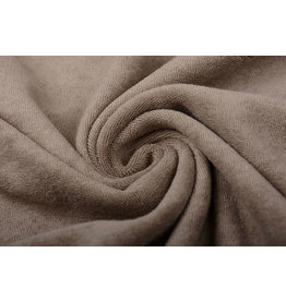 Stretch-Frottee Taupe