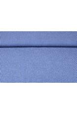 Seersucker Geruit Koningsblauw