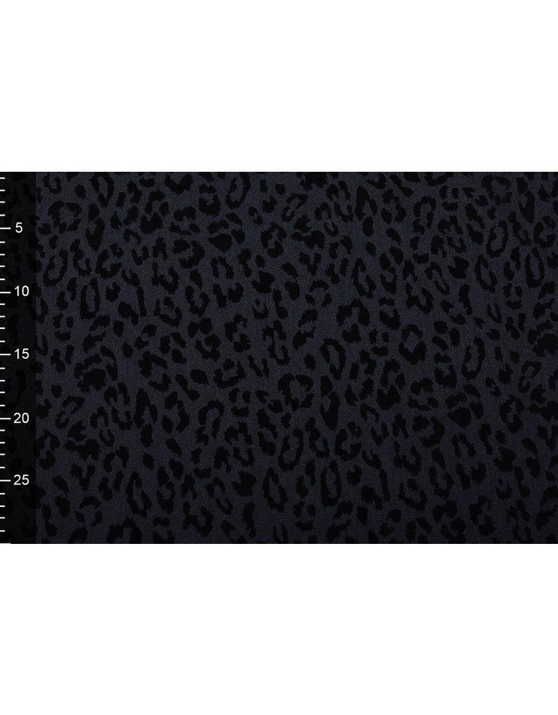 Denim Pantherdruck Flock Schwarz