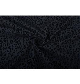 Denim Panterprint Flock Zwart