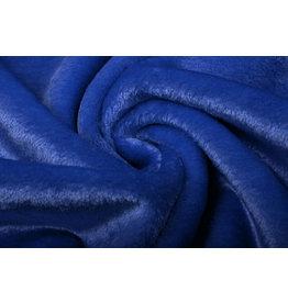 Kurzhaariges Teddystoff Königsblau