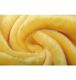 Kurzhaariges Teddystoff Zitronengelb