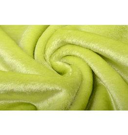 Kurzhaariges Teddystoff Limettengrün