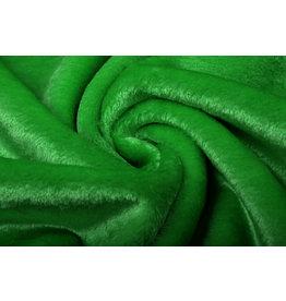 Kurzhaariges Teddystoff Grasgrün