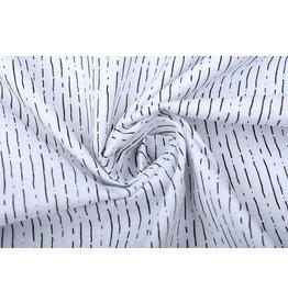 100% Baumwolle Gestreiftes Weiß Schwarz
