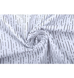 100% Cotton Striped White Black