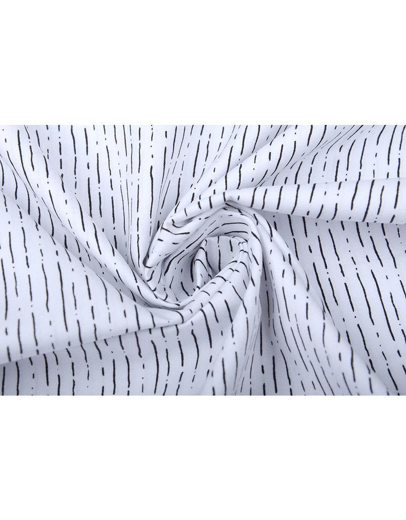Stenzo 100% Baumwolle Gestreiftes Weiß Schwarz