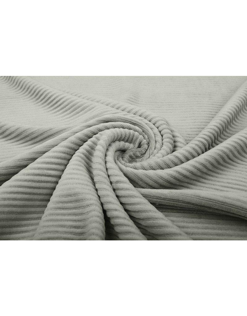 Baumwolle Trikot Cordstoff Breit Silber