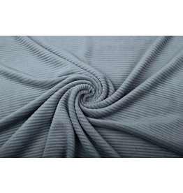 Cotton Corduroy Large Rib Grey Blue
