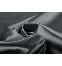 Stretch Satijn Donker grijs