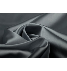 Stretch Satin Dark Grey