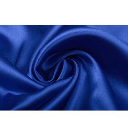 Stretch Satijn Koningsblauw