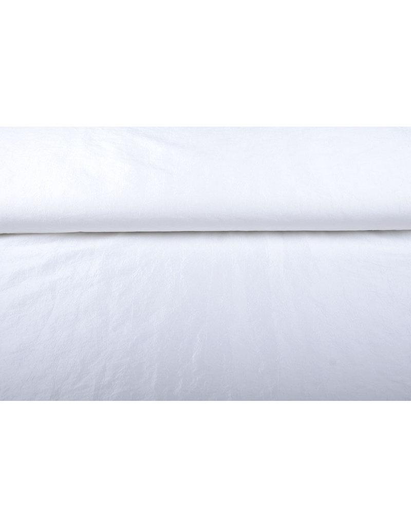 Crinkle Taft Weiß