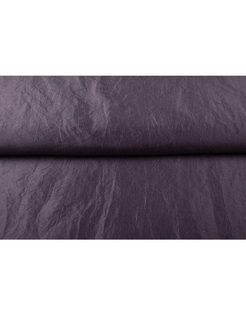 Crinkle Taft Donker mauve