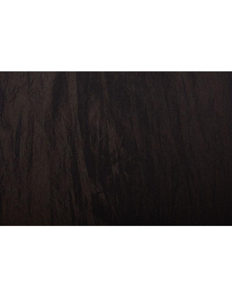 Crinkle Taft Dunkelbraun