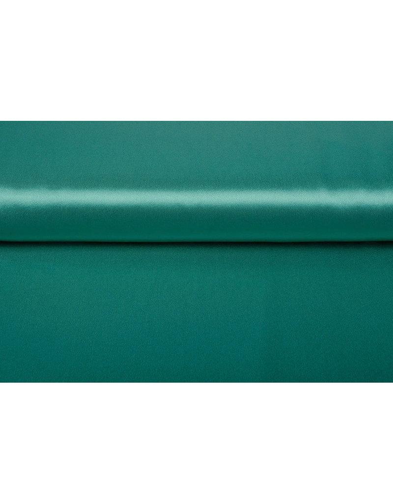 Krepp-Satin Seegrün