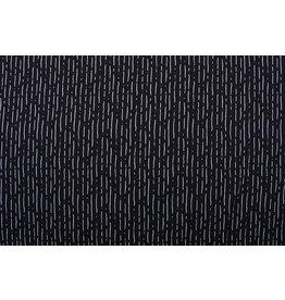 100% Baumwolle Gestreiftes Schwarz Weiß