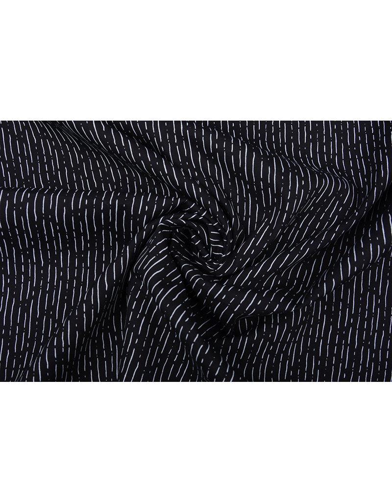 Stenzo 100% Baumwolle Gestreiftes Schwarz Weiß