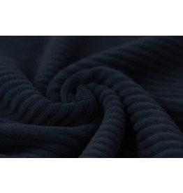 Baumwolle Trikot  Cordstoff Breit Marine